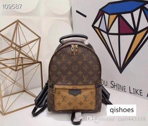 Hight Quality L Women's Palm Springs Mini Backpack Genuine Leather Children Women Backpacks V Flower Print School bag M41560 M41561 M41