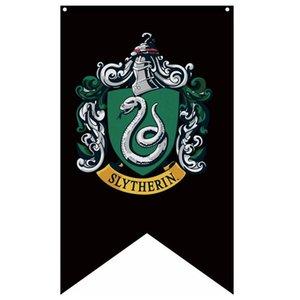 75 * 125cm Hogwarts universitari Bandiere Slytherih Grifondoro Corvonero Tassorosso universitari Badge Banner Harry Potter partito della decorazione Flag HHA870
