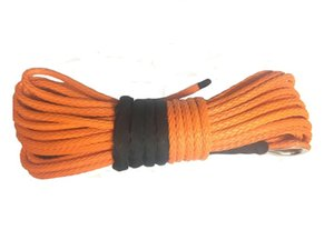 """New Durable 100' x 1 2"""" Orange UHMWPE Synthetic Winch Rope"""