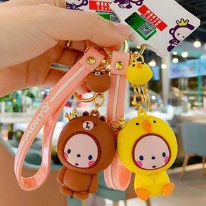 Neue Art und Weise Schlüsselanhänger Netter Anhänger Ring Anime Affe Affe Paar Keychain Kreativer Trinket Charme-Frauen-Mädchen-Kind Schlüsselanhänger