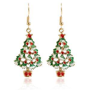 شجرة عيد الميلاد قلادة القرط الأزياء كريستال الجديد هدية عيد الميلاد مجوهرات أنيقة ياردروب السنة الجديدة الديكور حلق 2020