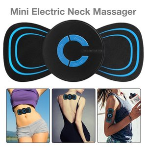 Portable Ems Mini Electric Neck Massager Cervical Massage Vertebra Stimulator Muscle Relief Pain Sticker Physiotherapy Instrument