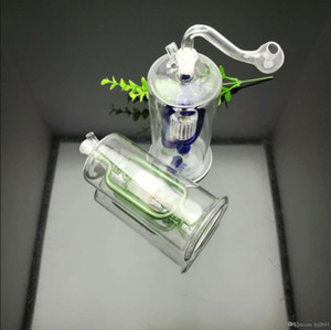 Colored multi-cycle filter kettle Glass Bongs Glass Smoking Pipe Water Pipes Oil Rig Glass Bowls Oil Burn