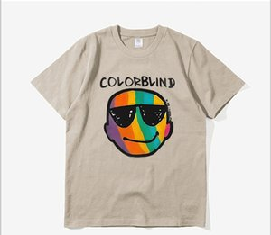 Justin Bieber New Color Blind T-shirt Homme Femme Casual haute qualité Justin Bieber Color Blind T-shirt gunn