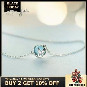 kadınlar zarif takı hediye V191202 için Thaya Mermaid Köpük Kabarcık Tasarım Kristal Kolye S925 gümüş Denizkızı Kuyruk Mavi kolye kolye