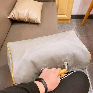 Bolsa de viaje con láser de mano del equipaje del bolso impermeable de tela de lana basta del bolso del totalizador Duffle Hombres Niños de Europa y América del estilo de las mujeres unisex de hombro del diseñador