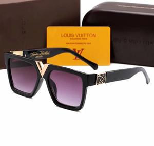 CAJA original marca gafas de sol moda 2371 gafas de sol sombreado al aire libre moda señora clásica gafas de sol de lujo espejo para la entrega gratuita