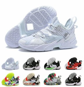 Pourquoi ne pas ZER0.3 III Triple blanc L.A. Born La famille UNISSENT Bruit de basket-ball de Jumpman Hommes Russell Westbrook Chaussures Taille 7-12