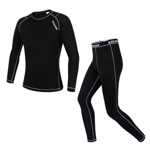 WOSAWE Breathable Fleece Cycling Base Layer Suits Quick-drying Compression Long Johns Cycling Running Bottom Jersey Sports Suits