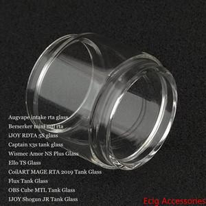 Bulb bolha tubo de vidro para a ingestão de Berserker Mini iJoy RDTA 5S Capitão X3s Amor NS Além disso Ello TS MAGE RTA 2019 Flux Cube MTL Shogun JR DHL