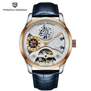 PAGANI DESIGN Automatic Dual Time Zone 2020 New Relogio Men Skeleton Mechanical Watch Waterproof Watches Relogio Masculino Saati