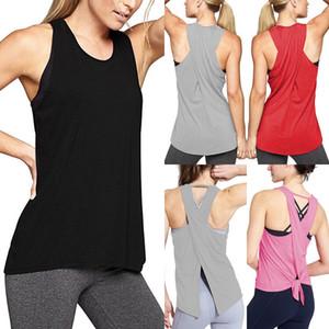 Femmes Fitness stretch Débardeur Gym Jogging Sport Yoga Gilet Caraco été Tee