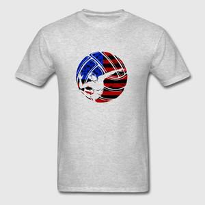 Maglietta da uomo stampata Maglietta da baseball Maglietta da donna O-Neck Short - Sleeve T Shirt da pallavolo (1) T-shirt da donna