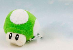 Super Mario Bros Гриб плюшевый брелок украшения кулон мягкая игрушка зеленый 2,5 дюйма