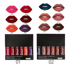 POPFEEL Makeup Lip Gloss Set Look In A Box Lipgloss Kit Velvet Matte Liquid Lip Stick Non-Stick Cup WaterProof LipGloss Box