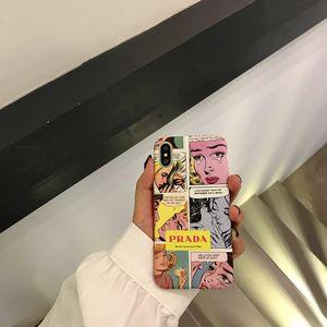 1 ШТ. Дизайнер Живопись Матовый Crashproof ПК Жесткий Задняя Крышка Сотовый Телефон Чехол Защитные Чехлы Для iPhone X XS 6 6 S 7 8 ПЛЮС