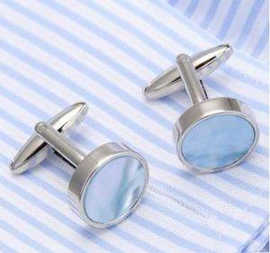 Классический круглый камень Запонки Navy Groom манжеты Кнопки Свадебные запонки для мужчин высокого качества
