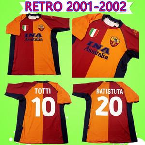 2001 2002 RETRO roma soccer Jersey TOTTI BATISTUTA MONTELLA camiseta de fútbol vintage roma BALBO MARTINETTI FUSER DE ROSSI Maglia da calcio