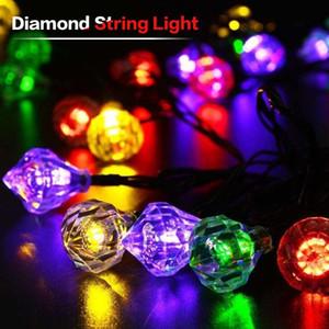 BRELONG Elmas Güneş Dize Işıkları 20LED Romantik Düğün Noel Doğum Günü Tatil Odası Avlu Dekoratif LED Işıkları