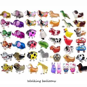 38 Stilleri Yüksek Kalite Yürüyüş Hayvan Balonlar Şişme Alüminyum Yürüyüş Hayvan Balon Noel Partisi Dekorasyon Çocuk Oyuncakları