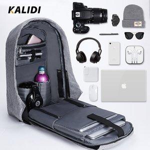 KALIDI Uomo Zaini 15inch multifunzione zaino portatile di ricarica USB sacchetto di scuola Mochila 17 pollici zaino da viaggio Antifurto