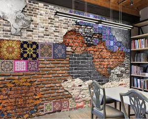beibehang ورق الجدران ديكور المنزل مخصص ملصقا ورق الجدران من الطوب جدار الفن خمر خلفية خلفية خلفية للجدران 3 د