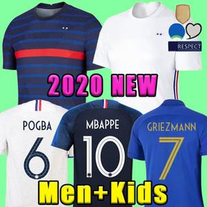 축구 2020 2021 MBAPPE GRIEZMANN KANTE POGBA (20) (21) 축구 유니폼의 타이츠 드 발 FEKIR PAVARD kante 축구 축구 셔츠 드 Maillots
