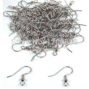 Surgical Steel Ball & Coil Earring Hooks 18mm (200) 4E019