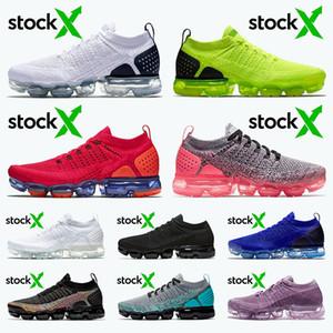 رجالي nike air vapormax flyknit 2.0 Plus 2020 Vamaxpor زائد FK Knite 2.0 أعلى جودة النساء الاحذية أبيض أسود رمادي فولت الأحمر المتسابق الأزرق المدربين الرياضية أحذية رياضية