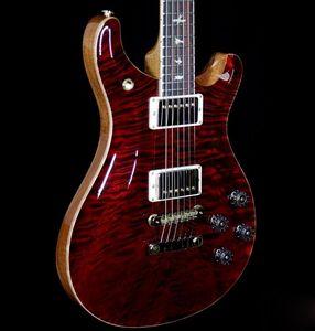 Вуд библиотека 10 Топ Одеяло Топ МакКарти 594 Гитара вина Взрыв на заказ 22 Flame Maple Neck Reed Smith 24 лада электрическая гитара