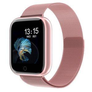 2019 nuevo de las mujeres a prueba de agua reloj inteligente T80 Bluetooth SmartWatch para iOS de IPhone Xiaomi monitor de ritmo cardíaco rastreador de ejercicios