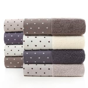 Serviette de coton pour hommes et femmes Serviette de ménage épaisse de couleur unie 32 Actions de fabricants de serviettes de lavage doux absorbantes en gros