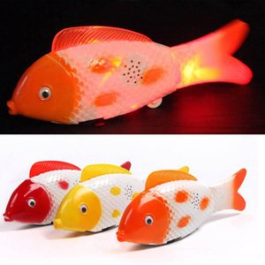 Gros Led Glowing Fish Toy Flash Jouet Électrique Enfants Unisexe Toy Jouet Poisson Chanter Clignotant Balancement Clownfish Babies 'Lovely Led babiole