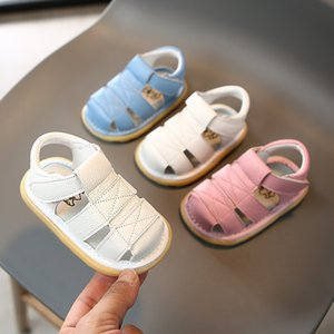 Infant Toddler Shoes 2020 Summer Baby Girls Boys Sandals Soft bottom Genuine Leather Anti-collision Children First Walkers Shoes CX200603