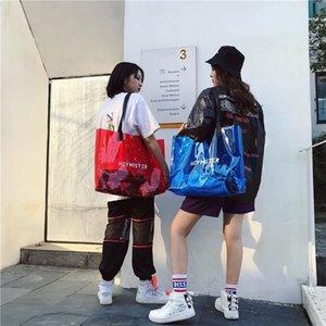 Women Tote Bags Shopping bag New Transparent Shoulder Bag Large Capacity PVC Jelly Bolsa Casual Tote Travel Duffel Weekender