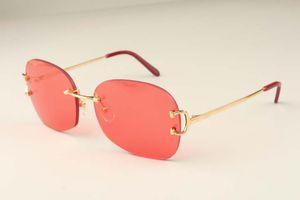 Hot gros neutre Lunettes de soleil en métal Frameless 4193829 mode de haute qualité lunettes de soleil Livraison gratuite Taille: 62-18-135mm