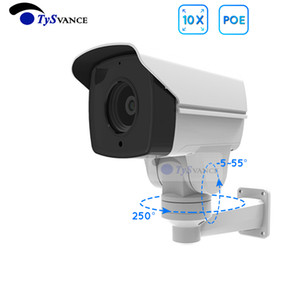 2MP HD 1080P 2.0MP Открытый POE Pullet IP-камера 10x Оптический зум Mini PTZ CCTV Security Camera Camera Ir Pan Tilt OnVif