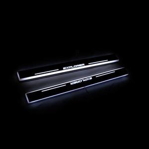 LED движущийся Добро пожаловать Педаль Explorer 2014 Peatal Car Pedal Scuff Подоколесный Путь - Для Ford Door Door 2011 Light Plate JFSCQ