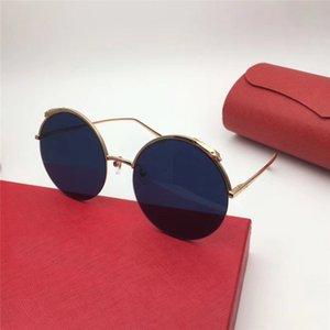 Yeni moda kadınlar marka tasarımcı güneş gözlüğü 0149 yuvarlak çerçeve güneş gözlüğü defile tasarım yaz tarzı ile orijinal kılıf