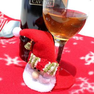 Weihnachtsweihnachtsmann-Abendessen-Becher-Wein Cup Glass Mat Pad Tischdekor-Geschenk