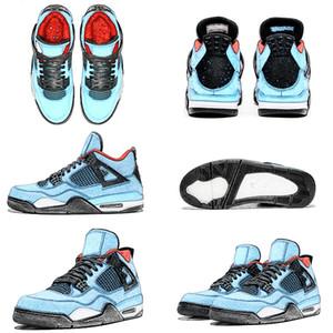 2020 Nueva Travis Scotts x 4s 2020 mens zapatos de baloncesto baratos para los hombres del tamaño Scotts entrenadores deportivos zapatillas de deporte de Estados Unidos 7-13