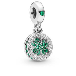 2019 Printemps 925 En Argent Sterling Éblouissante Trèfle Dangle Pendentif Charm Perle Pour European Pandora Bijoux Charme Bracelets