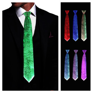 Men men Light Up Neckties LED Tie for Halloween Christmas New Years Rave Party Show Performance Costume Accessory