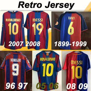 1899 1999 Barcelona XAVI RIVALDO Camisetas de fútbol del centenario 08 09 MESSI A. INIESTA 05 06 RONALDINHO Camisetas de fútbol retro Camisetas de futbol