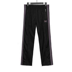 20 aghi 3 colori pantaloni moda pantaloni della tuta farfalla ricamata laterale Stripe donne degli uomini lunghi Cordino Pants High Street