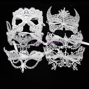 Máscara 1 del PCS del blanco del partido del cordón atractivo para los suministros Máscaras Carnaval Festival de Mujeres de la media cara bola mascarada partido del acontecimiento