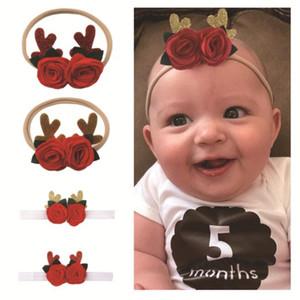 Weihnachten Kinderhaarschmuck Babyjungen Spandex Nylon Stirnband Kinder dünn dehnbar Non Marking elastisches Haarband