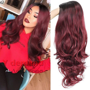 Top Hair Beauty Fashion Lunghe Onde Body Parrucche Glueless Full Hair Cina come i capelli umani per le donne nere Migliore parrucca sintetica di seta