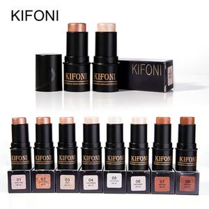 KIFONI 브랜드 8 색 페이스 3D 컨투어 형광펜 Bronzer 스틱 메이크업 펜 쉬머 밝게 피부 강조 컨실러 화장품
