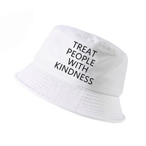 Pkorli Harry Styles trattare le persone con cappelli da pescatore gentilezza Donne Moda lettera stampata cappello della benna cap panama estate